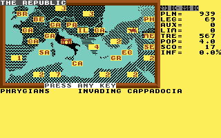 Annals of Rome Commodore 64 Uh oh, an invasion!