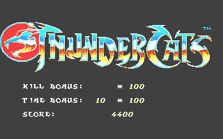 Thundercats Atari ST Level complete