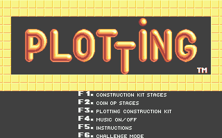 Plotting Atari ST Main menu
