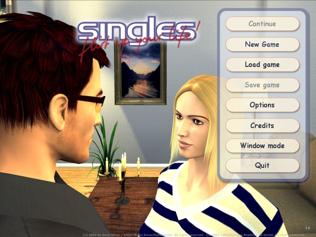 singles flirt up your life Singles: flirt up your life is the simulation of a young couple's relationship where you decide the final outcome choose a pair and move them in together, then see if you can keep them together through all the troubles they face.