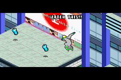 Jet Grind Radio Game Boy Advance Watching and practicing a complete game tutorial: one of the lessons is in progress now.