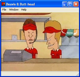 MTV's Beavis and Butt-Head in Virtual Stupidity Windows The introductory animated cutscene