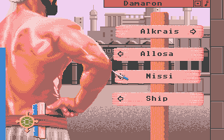 Sinbad and the Throne of the Falcon Atari ST Choose a location from the signposts