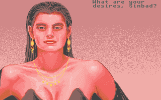 Sinbad and the Throne of the Falcon Atari ST Yea, she does look pretty fine