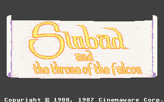 Sinbad and the Throne of the Falcon Atari ST Title screen