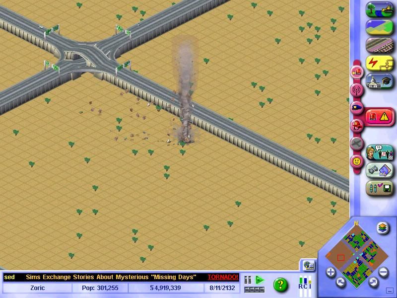 SimCity 3000 Unlimited Windows A Tornado