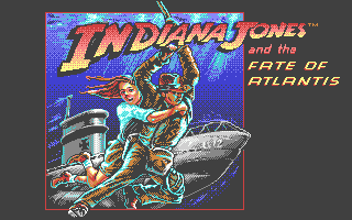Indiana Jones and The Fate of Atlantis: The Action Game Atari ST Main title screen