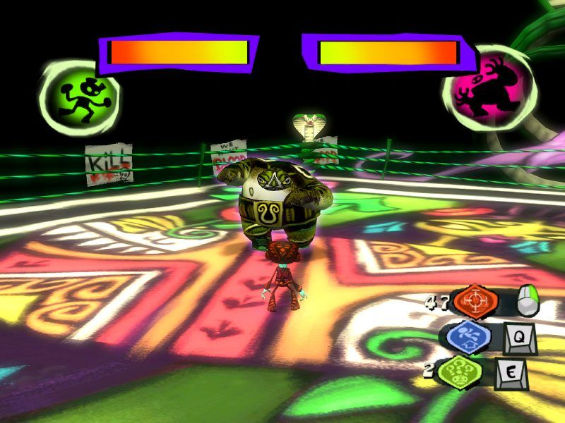 Psychonauts Windows Luchadores guard the queens of all four suits, which Edgar needs for his card stairway.
