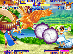 Kabuki Klash Neo Geo Kinu's Toriyose meets Yagumo's Narukami: what will happen now? Imagine the possible result... :D