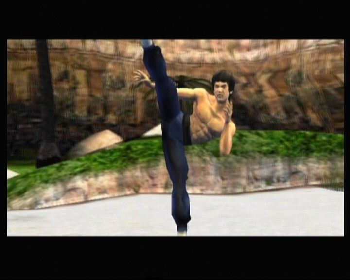 Bruce Lee: Quest of the Dragon Xbox Bruce displays some of his well known moves
