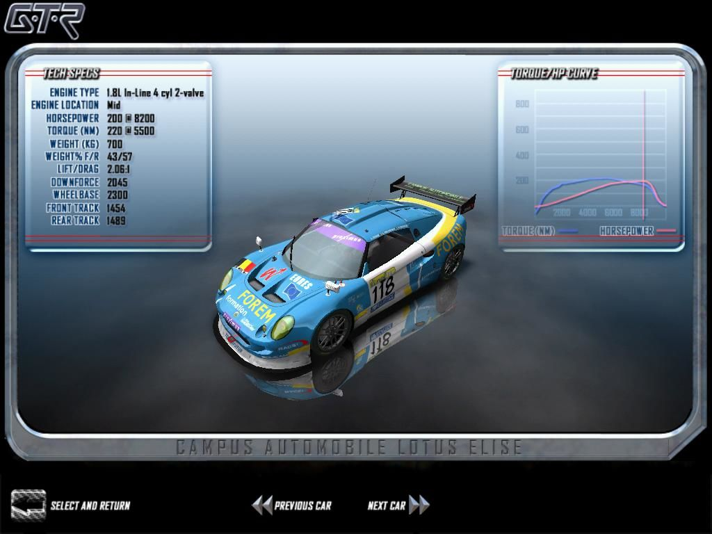 GTR: FIA GT Racing Game Windows Many different cars are available