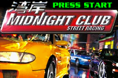Midnight Club: Street Racing Game Boy Advance Title screen.