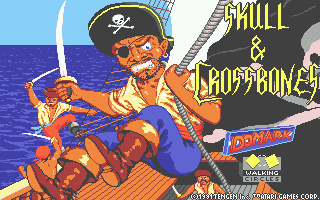 Skull & Crossbones Atari ST Loading screen