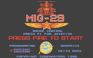 Mig-29 Soviet Fighter Atari ST Title screen
