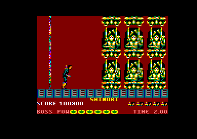 Shinobi Amstrad CPC Defeat these golden statues