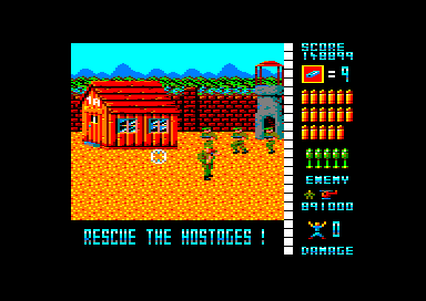 Operation Wolf Amstrad CPC Stage 5: Concentration Camp
