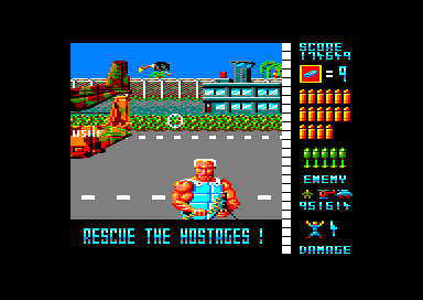 Operation Wolf Amstrad CPC Stage 6: Airport