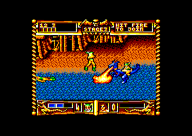 Golden Axe Amstrad CPC Riding a dragon