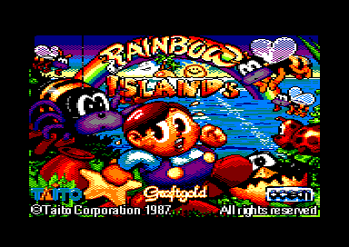 Rainbow Islands Amstrad CPC Title