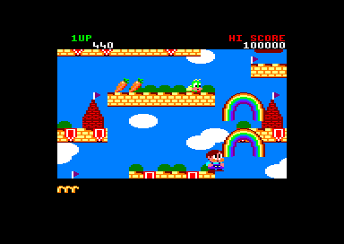 Rainbow Islands Amstrad CPC Shooting rainbows