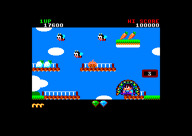 Rainbow Islands Amstrad CPC The bees seem to be coming out of that pumpkin