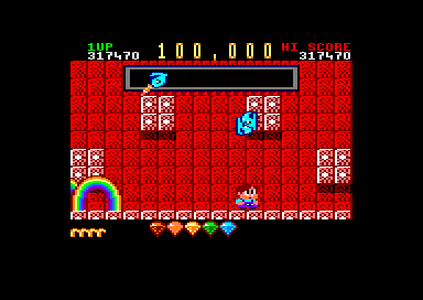 Rainbow Islands Amstrad CPC Each time you destroy a boss, you'll receive 100,000 points