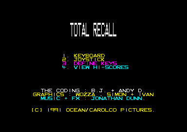 Total Recall Amstrad CPC Startup
