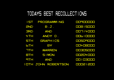 Total Recall Amstrad CPC Did you know that I helped Warren with the graphics?