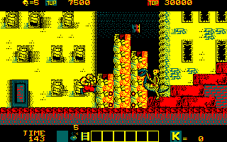 Karnov Amstrad CPC Watch out for that skeleton riding a whatever it is