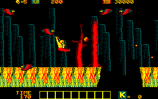 Karnov Amstrad CPC Ah, one of those birds got me!