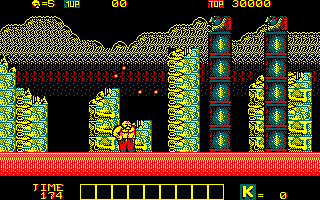 Karnov Amstrad CPC Knock down these towers to continue...