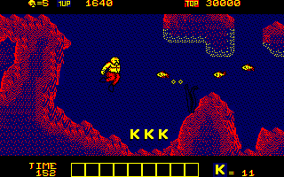 Karnov Amstrad CPC Watch out for fish underwater...