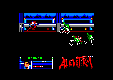 Alien Storm Amstrad CPC Jumping over a huge gap