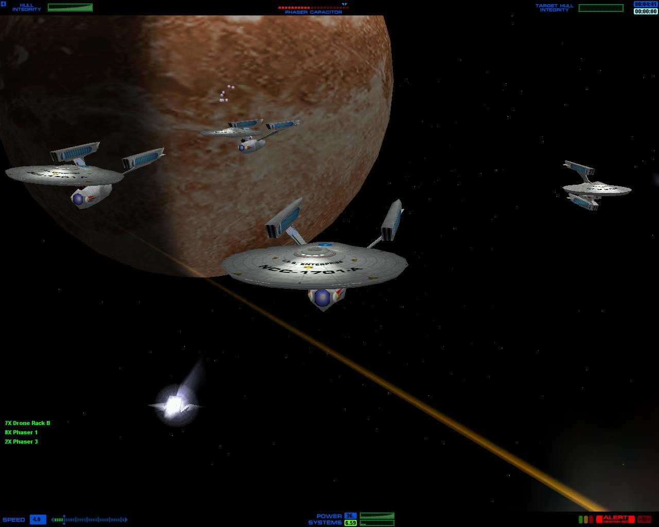Star Trek: Starfleet Command Windows a federation fleet of ships