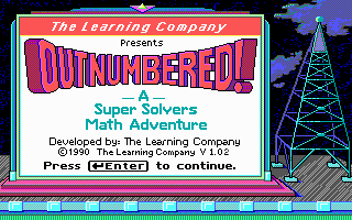 Super Solvers: OutNumbered! DOS Title screen (EGA)