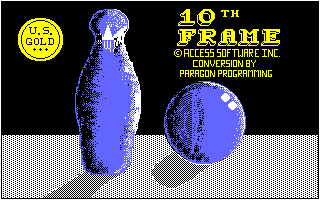 10th Frame Amstrad CPC Title screen
