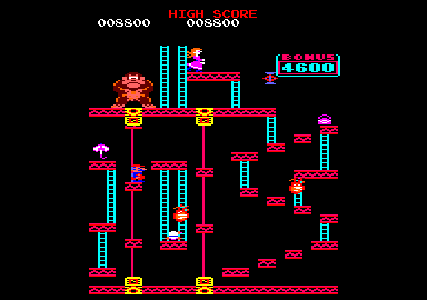 Donkey Kong Amstrad CPC This level features lots of little platforms