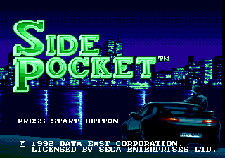 Side Pocket Genesis Title screen.