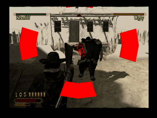 Red Dead Revolver PlayStation 2 Attacking with precision.