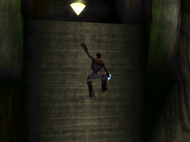 Legacy of Kain: Soul Reaver Windows Once Raziel gains the ability to climb, he can reach new areas and objects such as this health power-up.