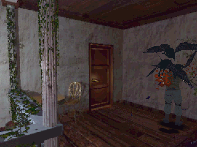 Resident Evil Windows Under the attack of greedy crows