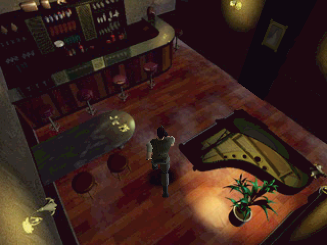 Resident Evil Windows Chris, lonely bar and silent piano