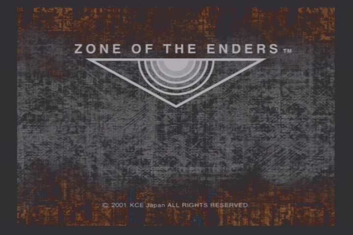Zone of the Enders PlayStation 2 Title Screen