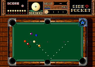 "Side Pocket Genesis Sink a ball where the star appoints to earn some additional points or a passport to the ""TRICK"" bonus."