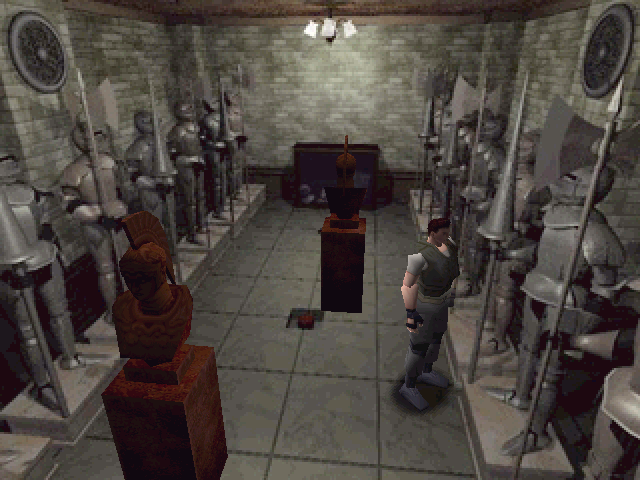 Resident Evil Windows Ancient room with two movable statues