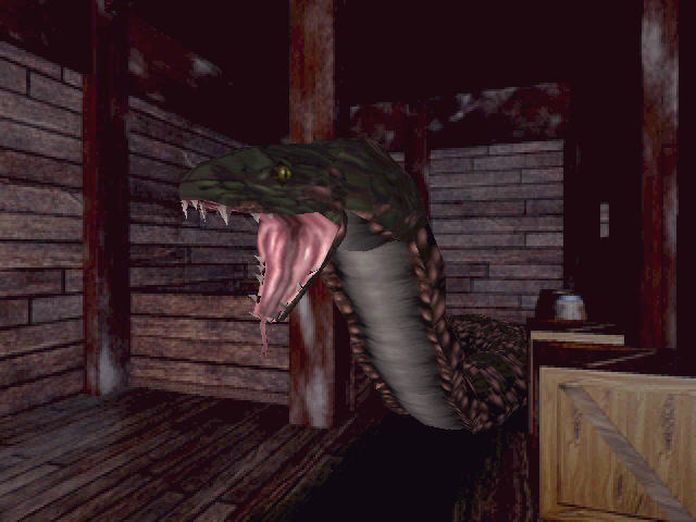 Resident Evil Windows I need to repel huge oversized snake