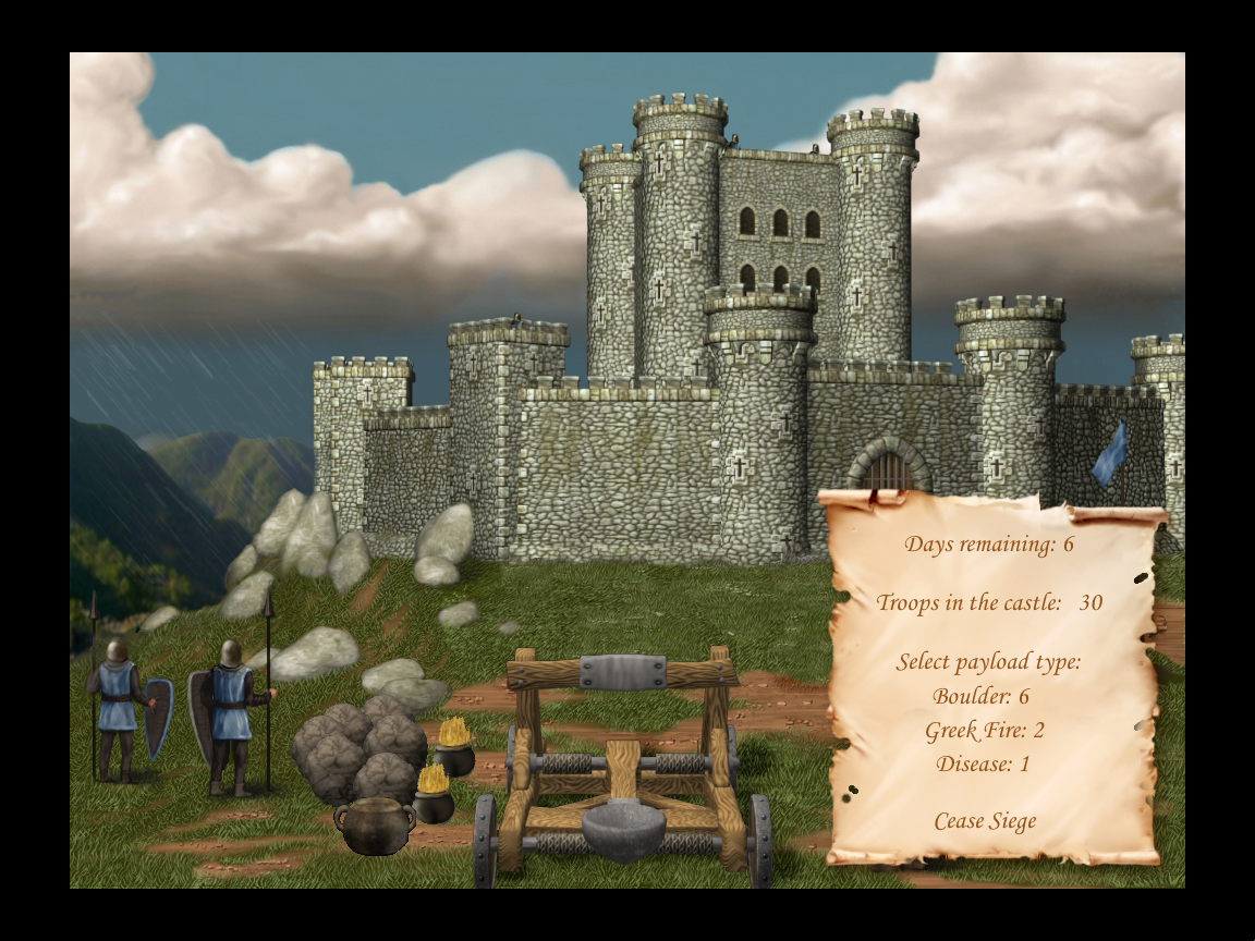 Defender of the Crown: Digitally Remastered Collector's Edition Windows Laying siege to a Saxon castle