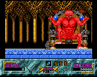 Ghouls 'N Ghosts Amiga Say hello to Lucifer