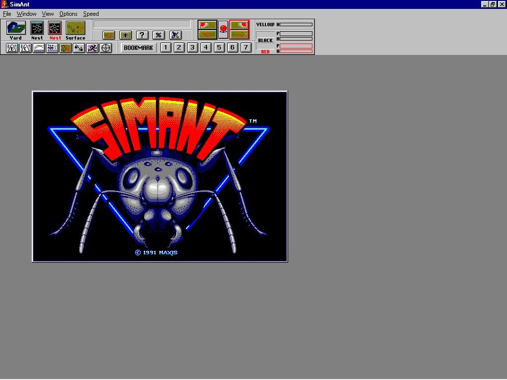 SimAnt: The Electronic Ant Colony Windows 3.x Title screen