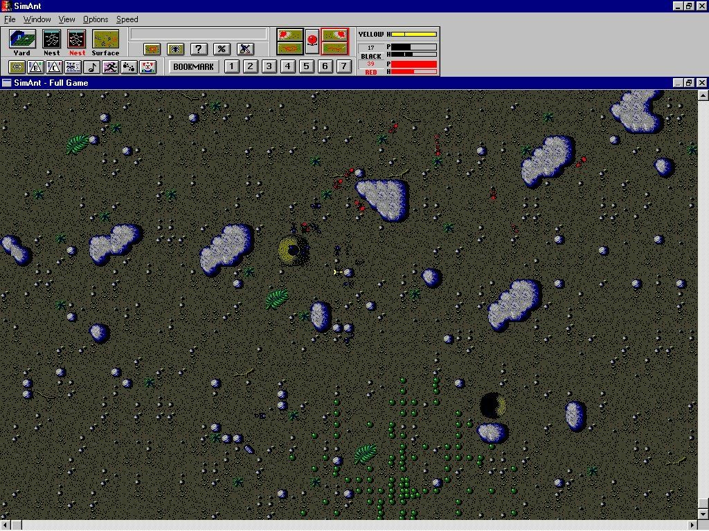 SimAnt: The Electronic Ant Colony Windows 3.x The red ants are attacking